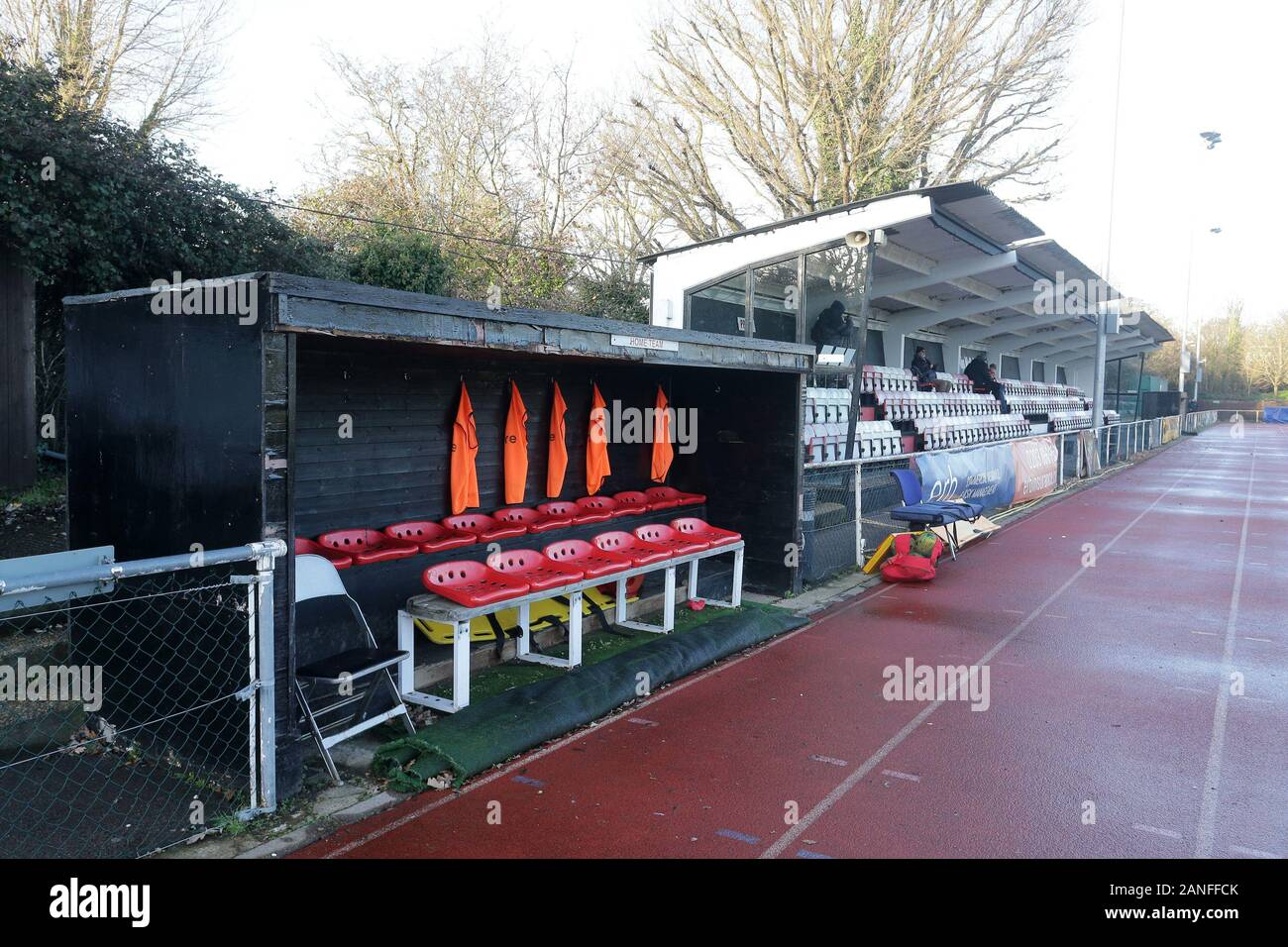 General view of the ground during Hornchurch vs Dulwich Hamlet, Buildbase FA Trophy Football at Hornchurch Stadium on 14th December 2019 Stock Photo