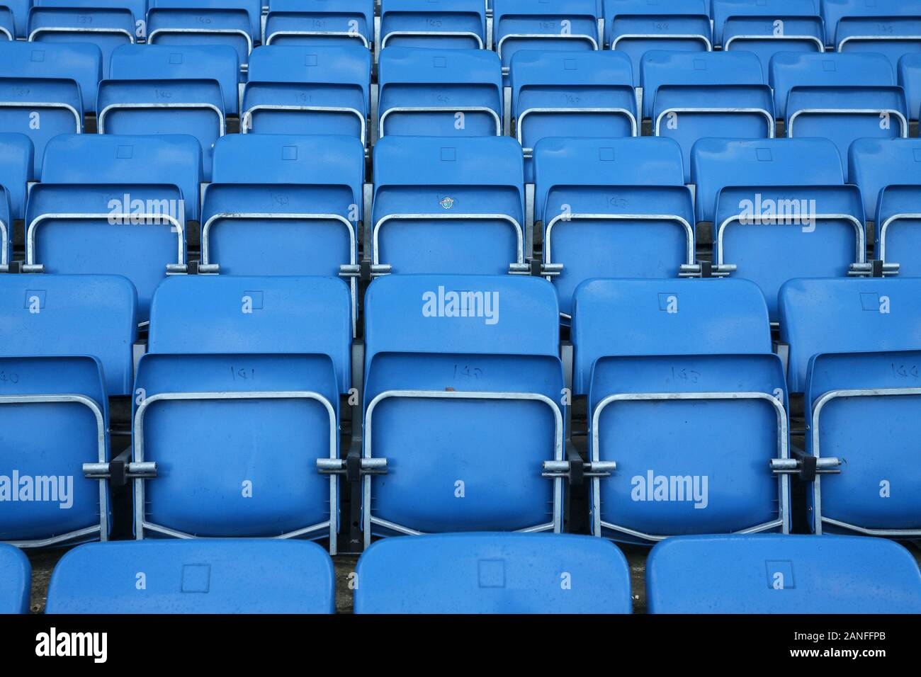 General view of the empty seats ahead of Reading FC Women vs Arsenal Women, Barclays FA Women's Super League Football at Adams Park on 8th December 20 Stock Photo