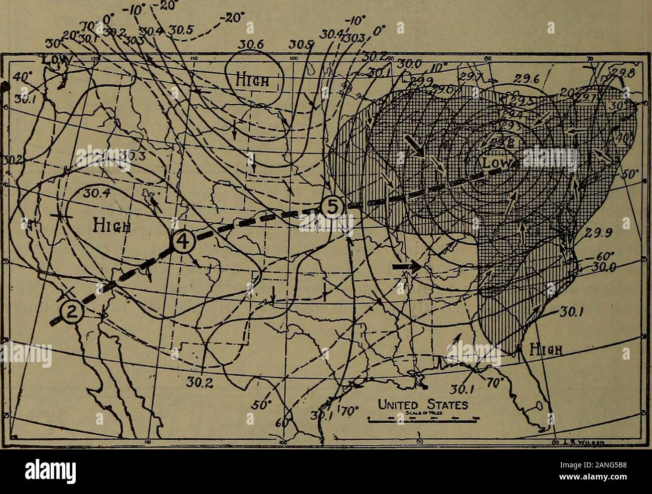 united states weather bureau map Science for beginners . Fig. 149.—Weather map of 7 a. m. (Central