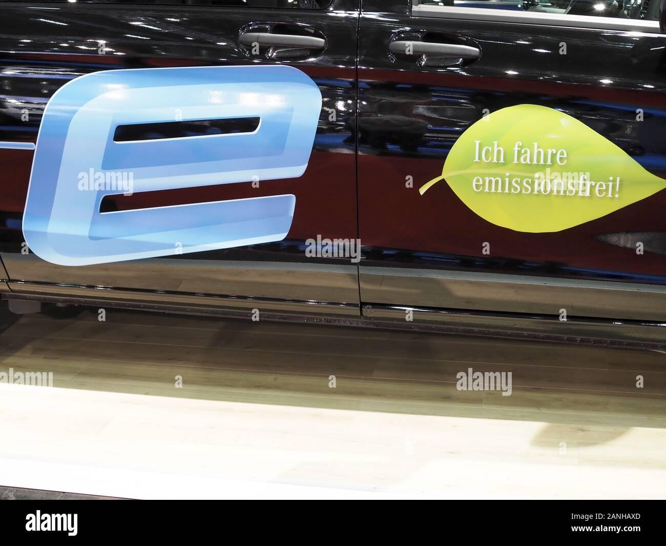 Vienna Auto Show 2020, ich fahre emissionsfrei Stock Photo