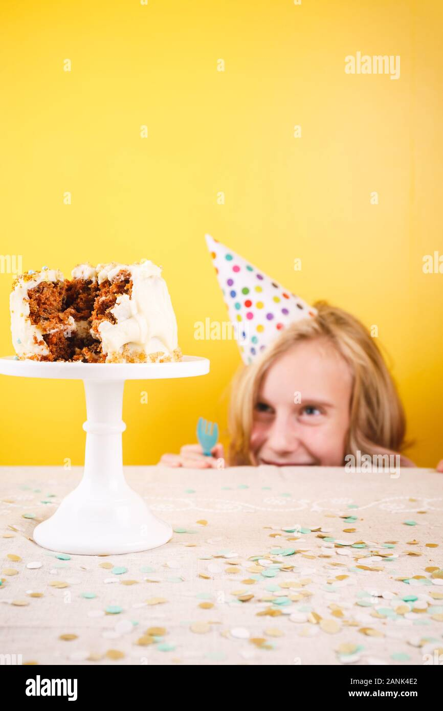 Outstanding Teenage Girl Enjoying Herself After Ruining Birthday Cake One Birthday Cards Printable Opercafe Filternl