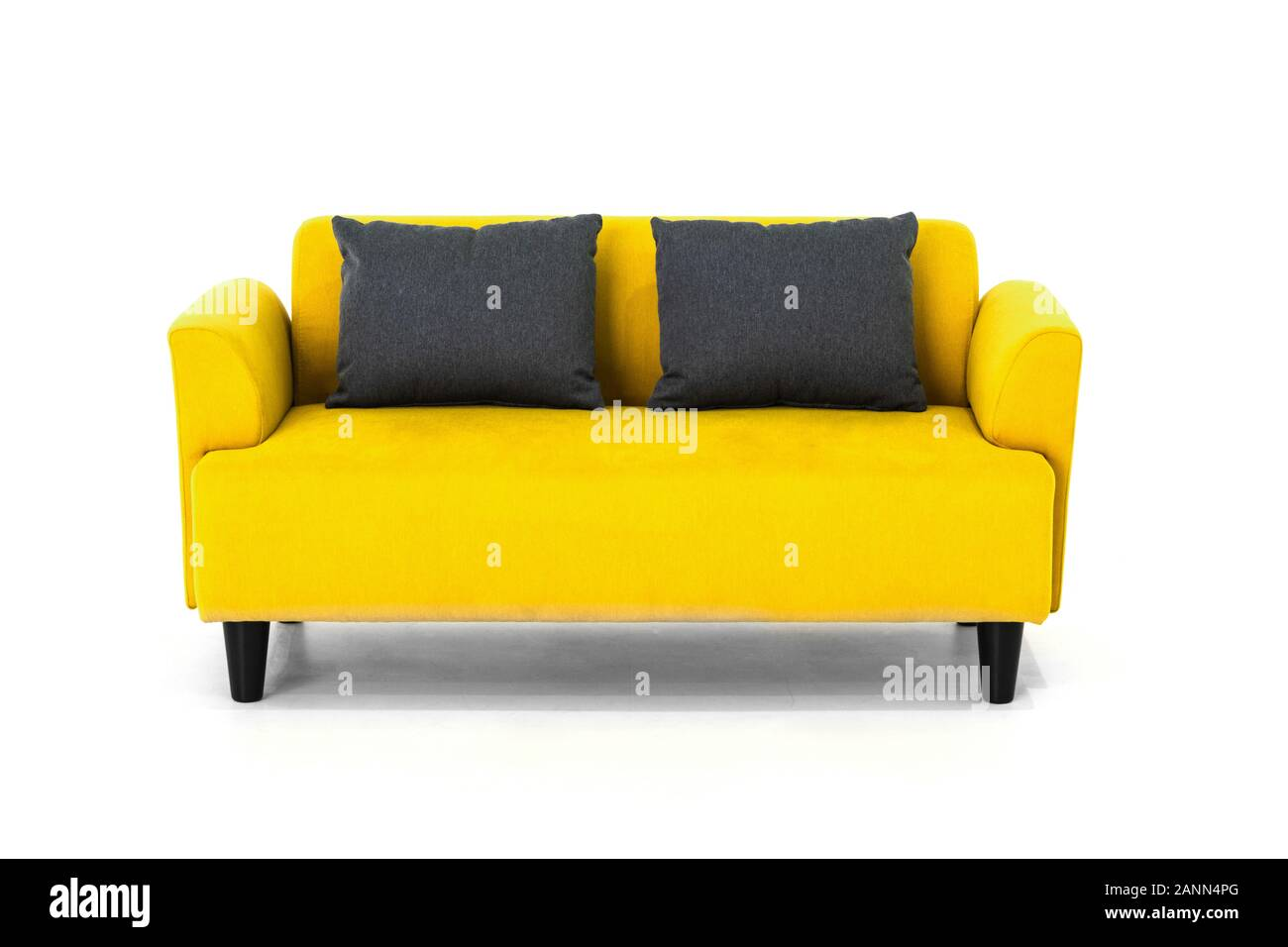 Yellow Scandinavian Style Contemporary Sofa On White Background With Modern And Minimal Furniture Design For Stylish Living Room Stock Photo Alamy