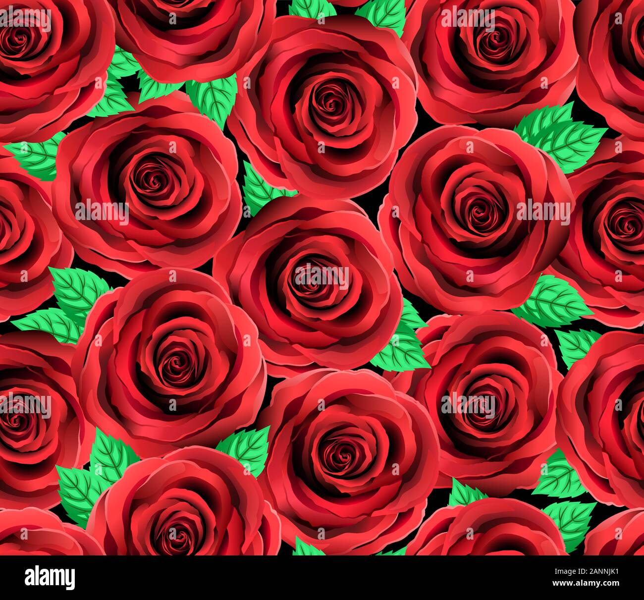 Red Rose Flower Vector Pattern Cite Floral Seamless Background Elegant Red And Black Roses Wallpaper Holiday Festive Wedding Decoration Old Fash Stock Vector Image Art Alamy