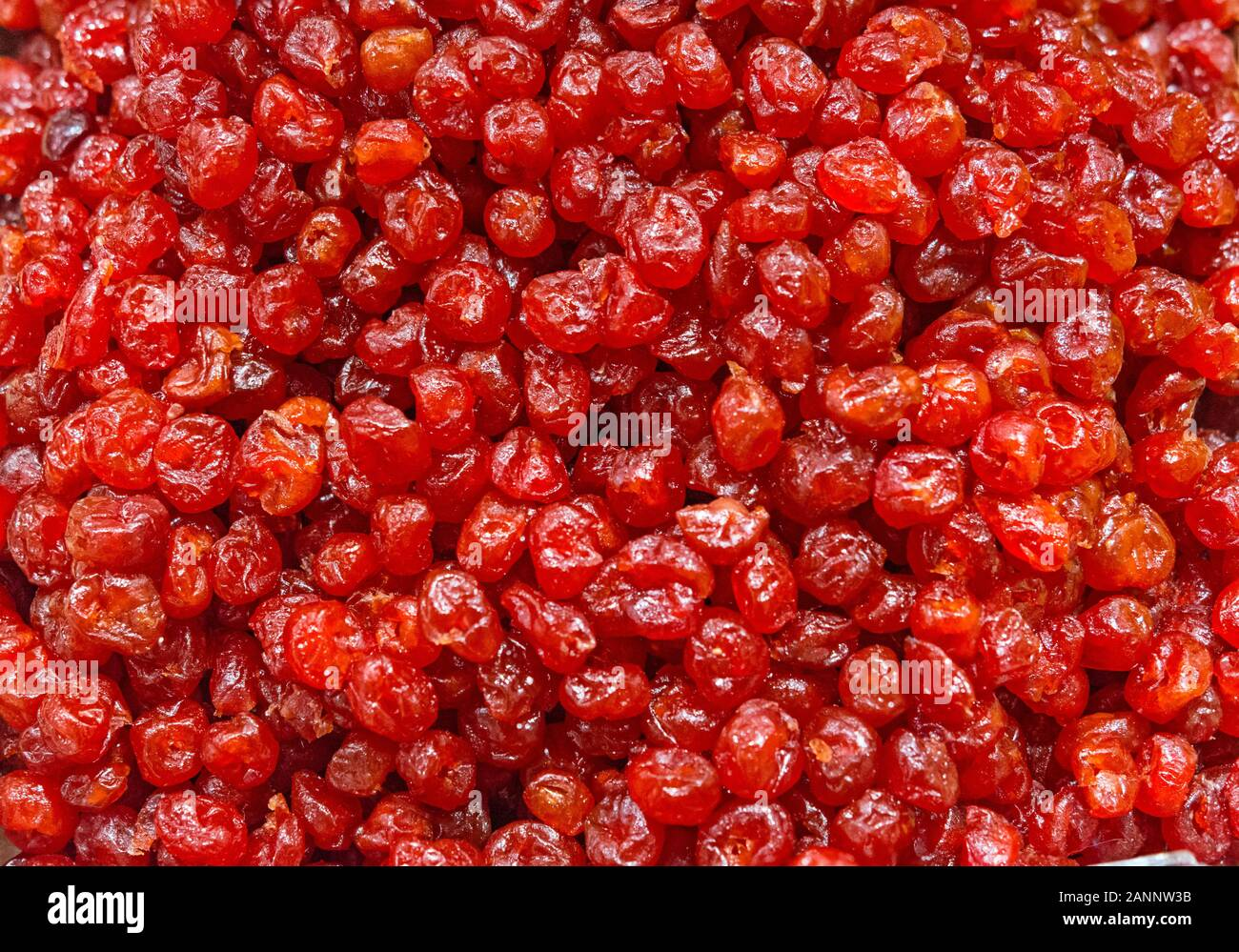 cherry fruit dried as a background Stock Photo