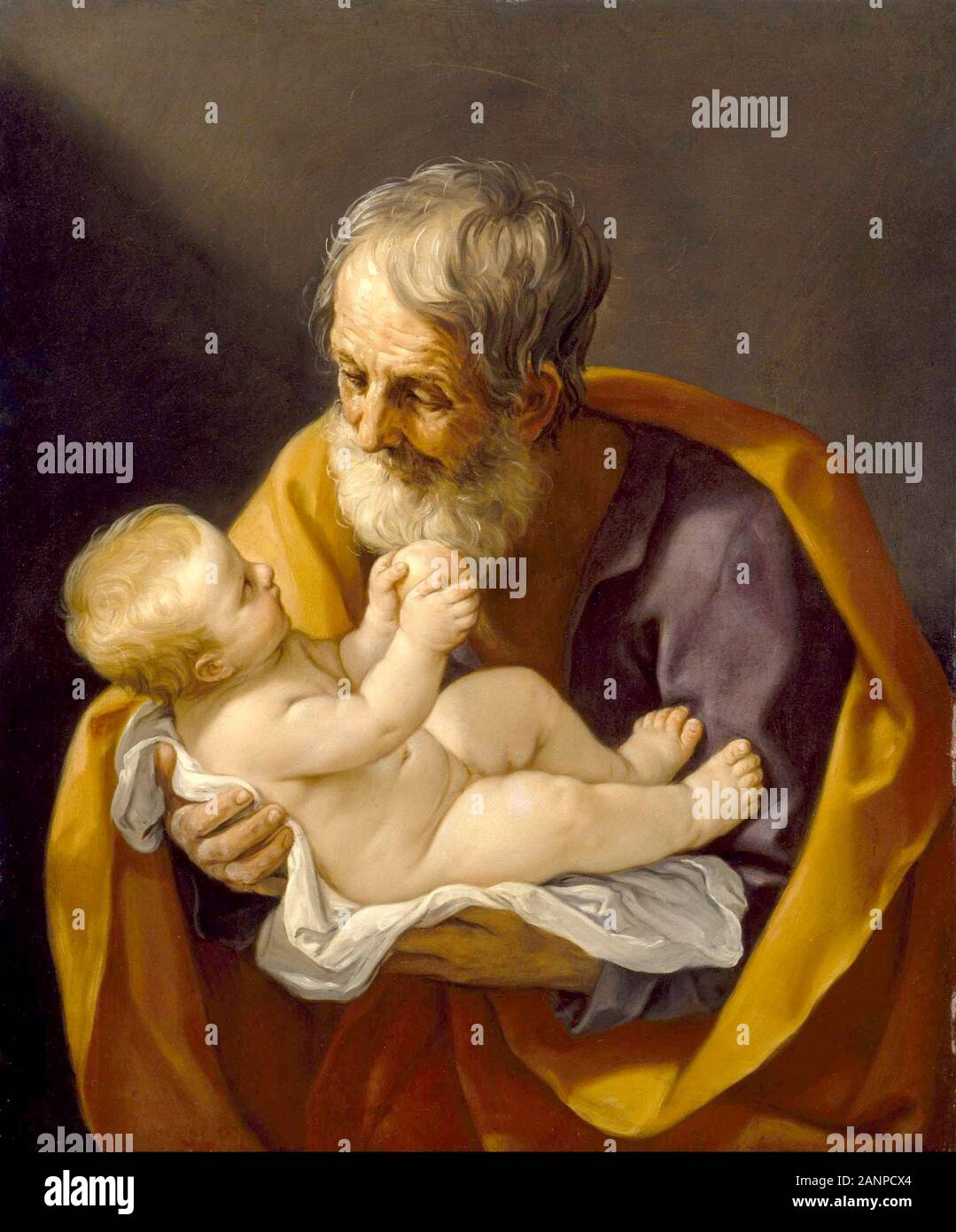 Life of JESUS CHRIST in Art on Canvas St Anne with the christ child by La Tour
