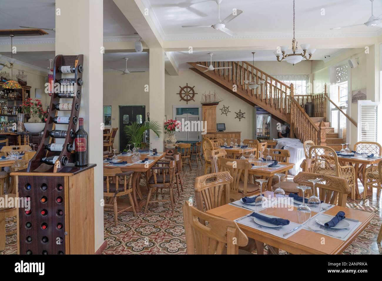 A Restaurant Interior In Downtown Puerto Plata Dominican Republic Caribbean Stock Photo Alamy