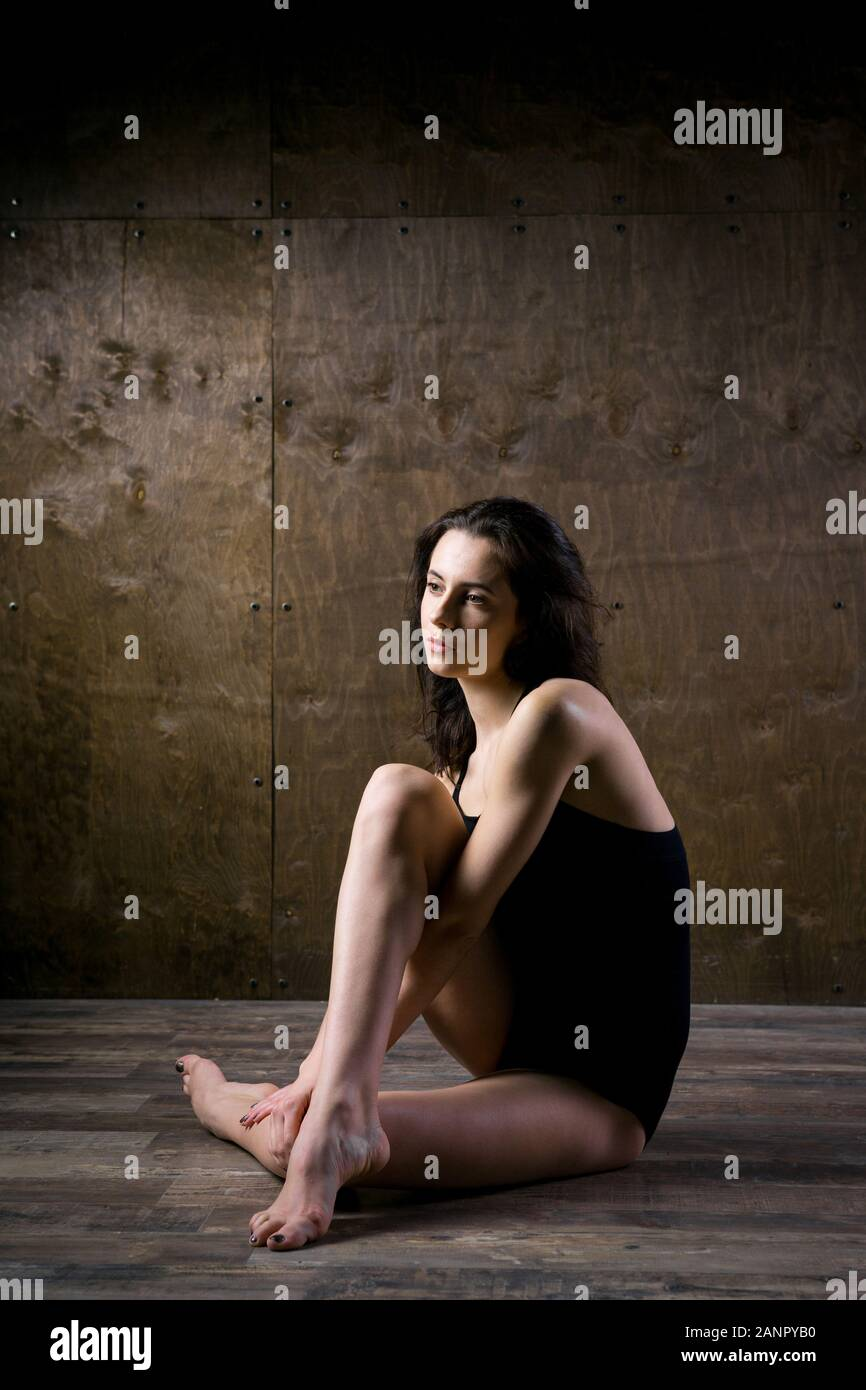 Abstract And Stress Emotional Concept Depressed Girl In Lonely Mood Theme Of Stressful Sad Woman Sitting Alone In Empty Room Depression And Stock Photo Alamy