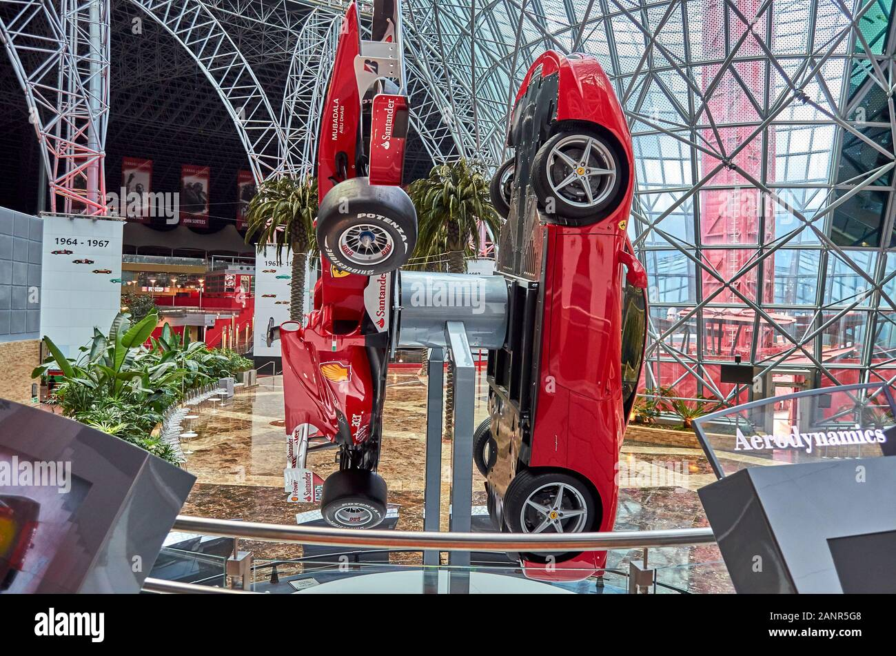 Inside Ferrari World Amusement Park In Yas Island Dubai United Arab Emirates Stock Photo Alamy