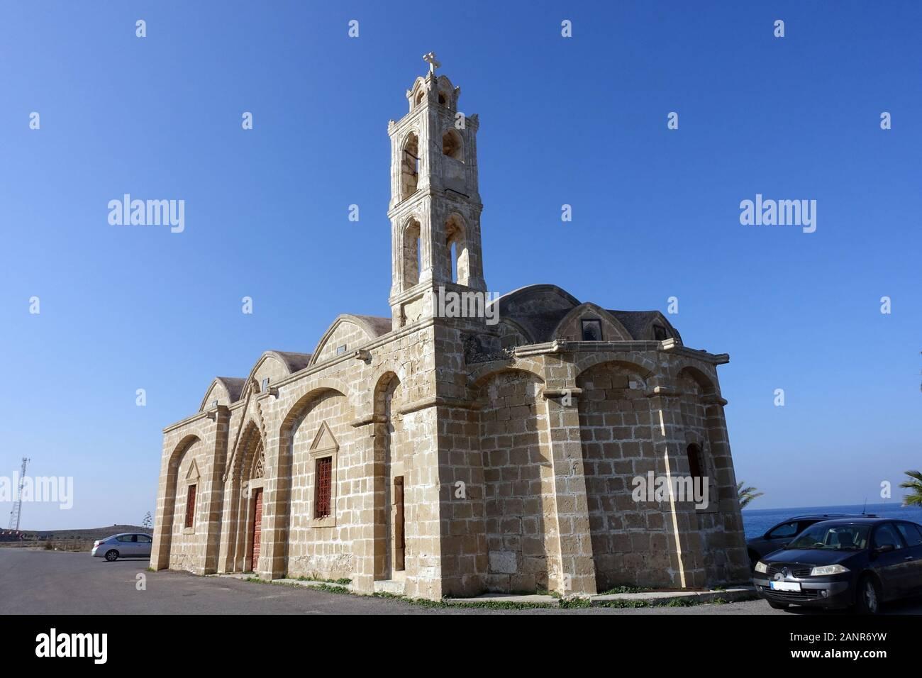Kirche des Hl. Therissos, Yialousa/Yeni Erenköy, Türkische Republik Nordzypern Stock Photo