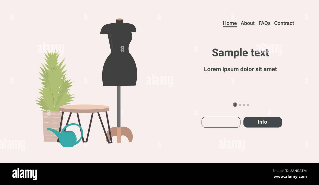 Fashion Creative Design Studio With Mannequin Dressmaking Workplace Tailor Shop Sewing Workshop Concept Horizontal Copy Space Vector Illustration Stock Vector Image Art Alamy