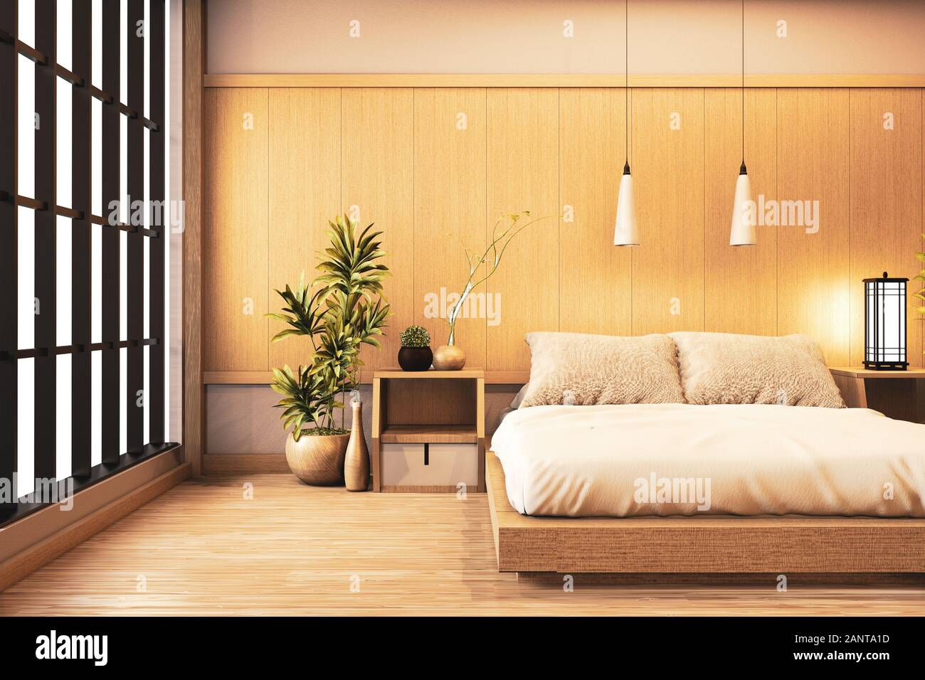 Japanese Bedroom Designs With Showing Modern And Minimalist Outlook Inside Roohome