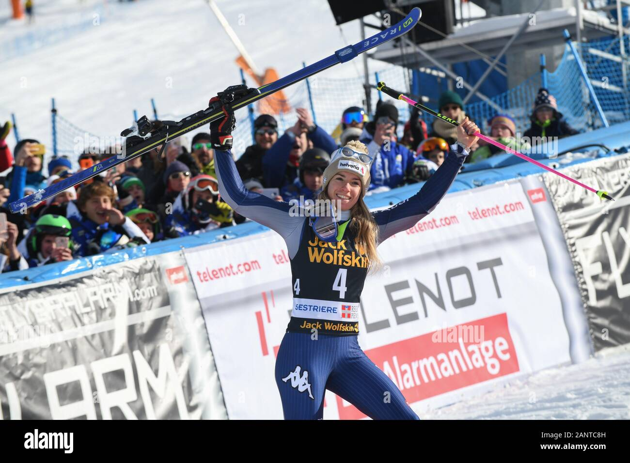 Sestriere, Italy, 19 Jan 2020, bassino marta (ita) 3th classified during SKY World Cup -  Parallel Giant Slalom Women - Ski - Credit: LPS/Danilo Vigo/Alamy Live News Stock Photo