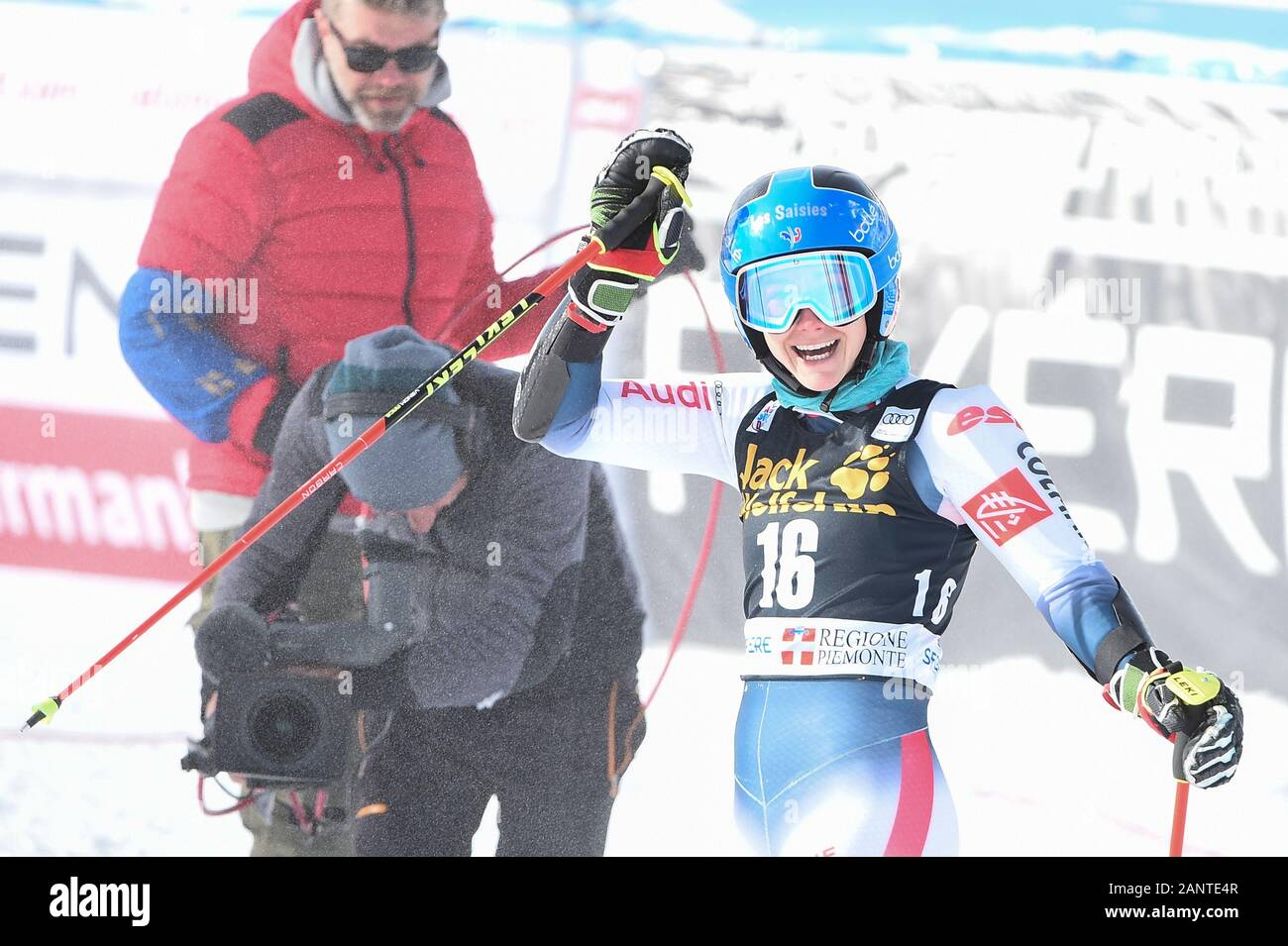 Sestriere, Italy, 19 Jan 2020, direz clara (fra) 1th classified during SKY World Cup -  Parallel Giant Slalom Women - Ski - Credit: LPS/Danilo Vigo/Alamy Live News Stock Photo