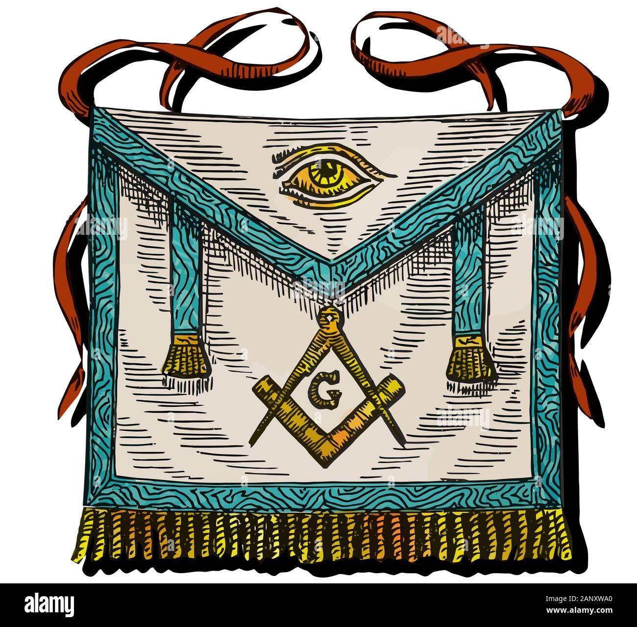 Masonic Square And Compass High Resolution Stock