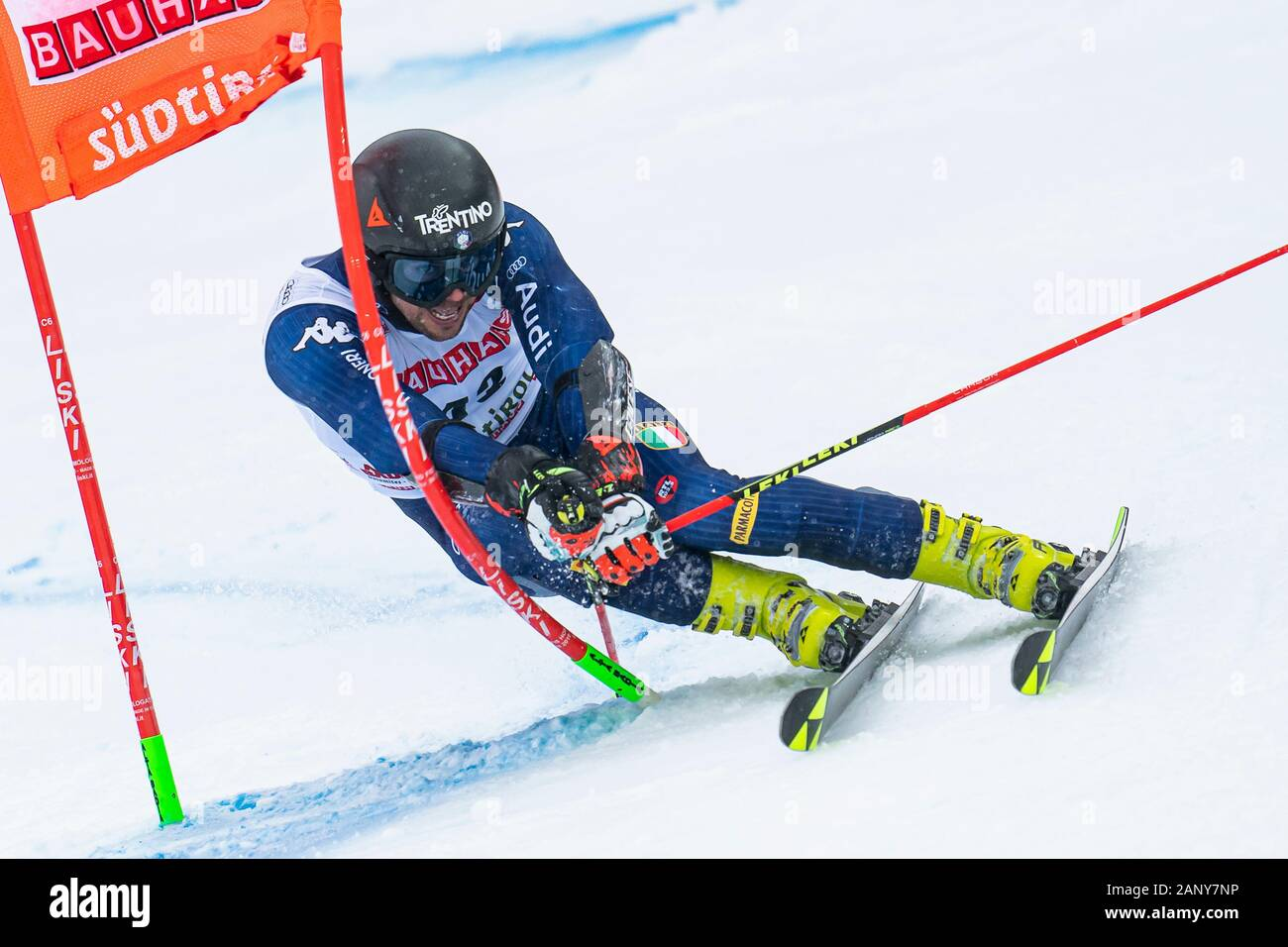 Alta Badia, Italy 22 December 2019.  BALLERIN Andrea (Ita) competing in the Audi Fis Alpine Skiing World Cup Men's Giant Slalom on the Gran Risa Cours Stock Photo