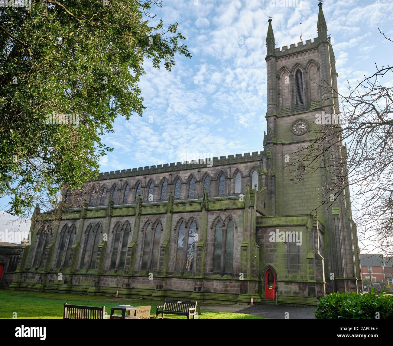England Lancashire Chorley January 19 2020 St George S Anglican Church Chorley From The North Stock Photo Alamy