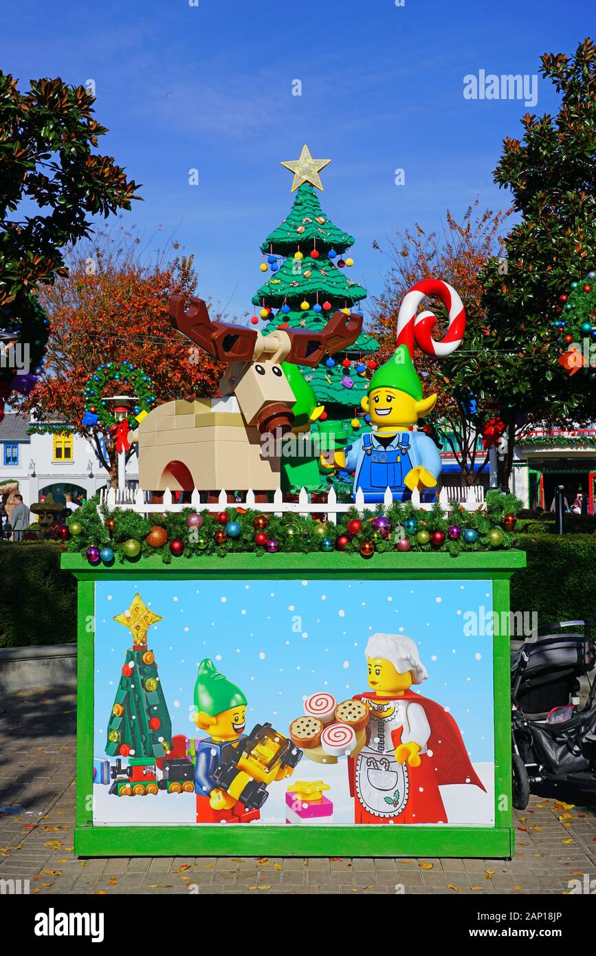 Legoland California Christmas 2020 CARLSBAD, CA  4 JAN 2020  View of Christmas holidays decoration at