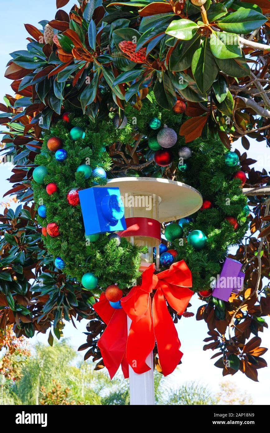 Legoland California Christmas 2020 CARLSBAD, CA  4 JAN 2020  View of Christmas holidays decoration at