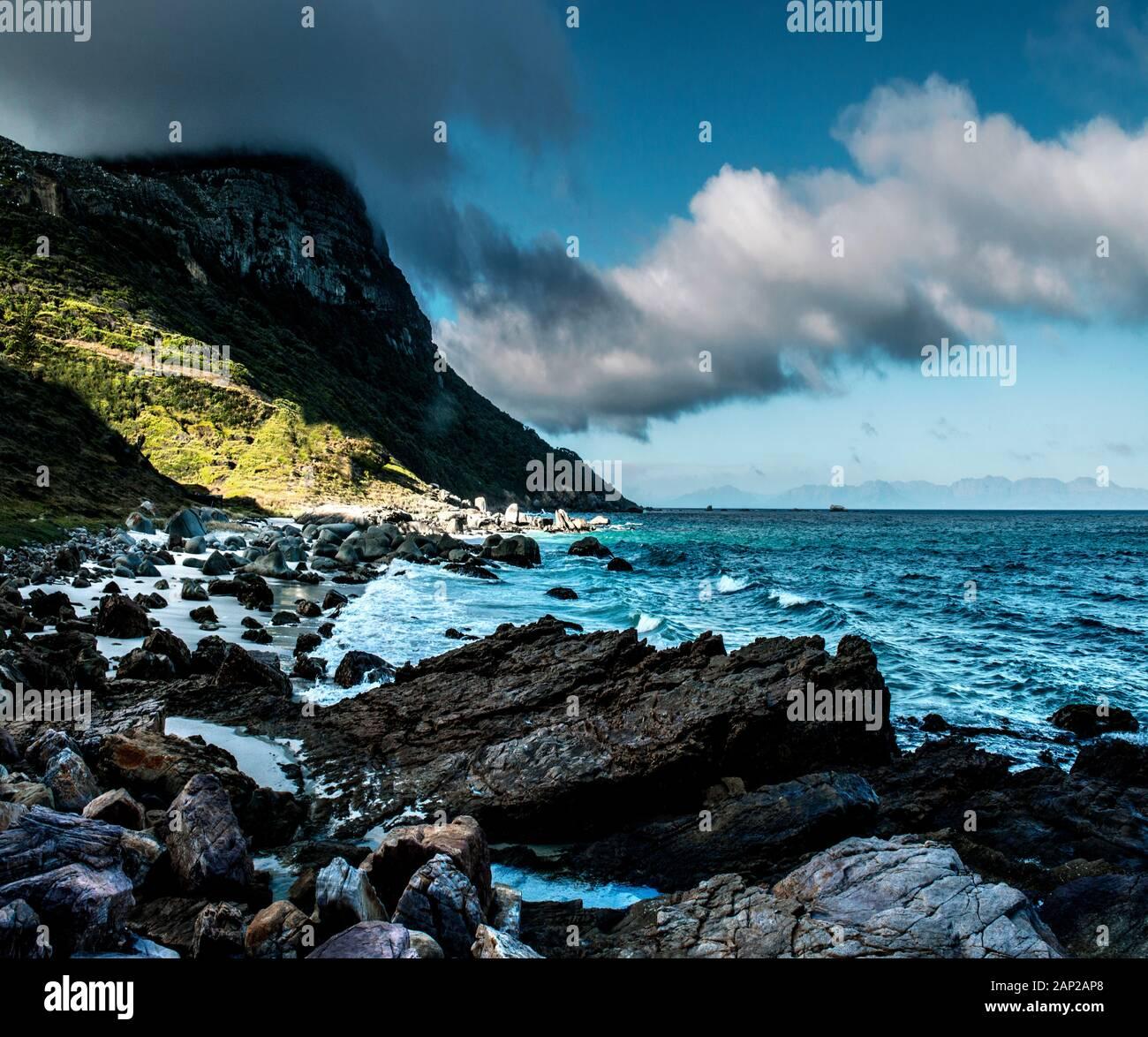 Stunning landscape on the cape peninsula, Southafrica Stock Photo