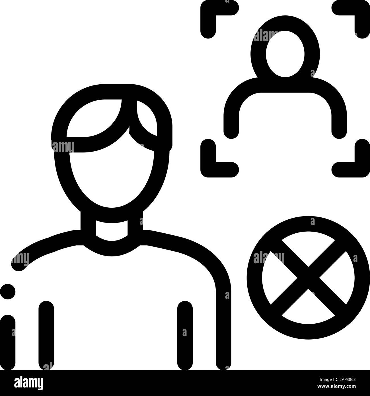 fake man identity icon vector outline illustration stock vector image art alamy https www alamy com fake man identity icon vector outline illustration image340591723 html