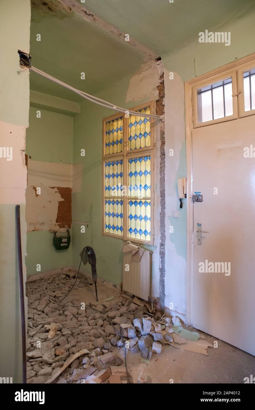 Altbausanierung - Renovation Stock Photo