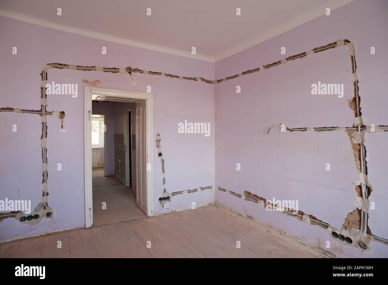 Sanierung einer Altbauwohnung - Renovation of an old flat Stock Photo