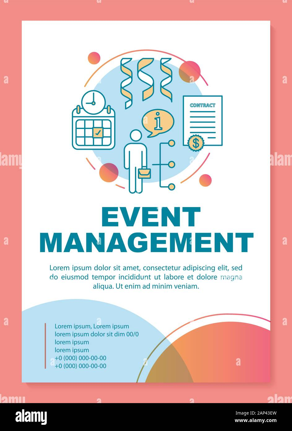 Event Management Poster Template Layout Seminar Business