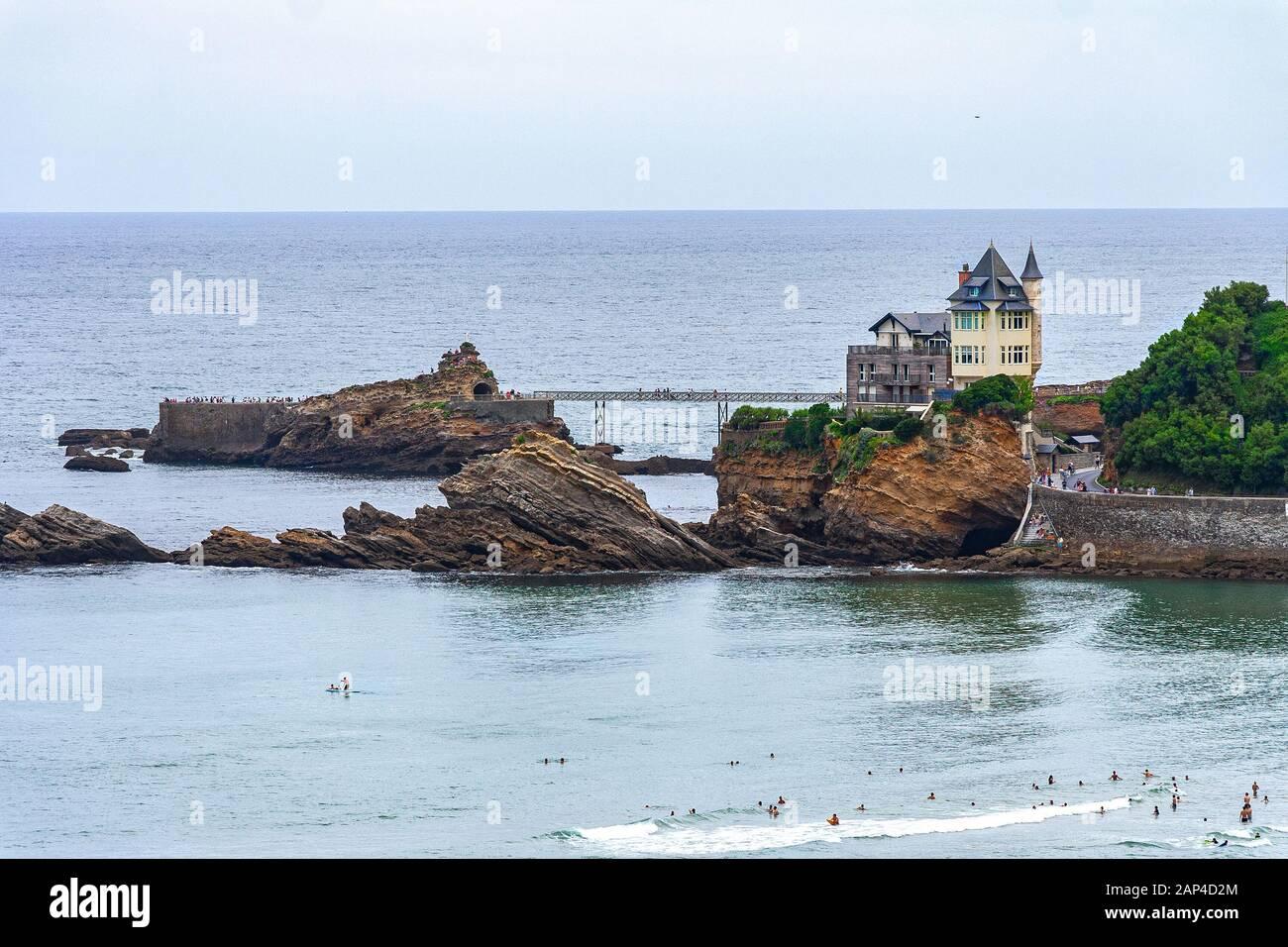 Biarritz, villa Belza. Pyrénées-Atlantiques, New Aquitaine,  france Stock Photo