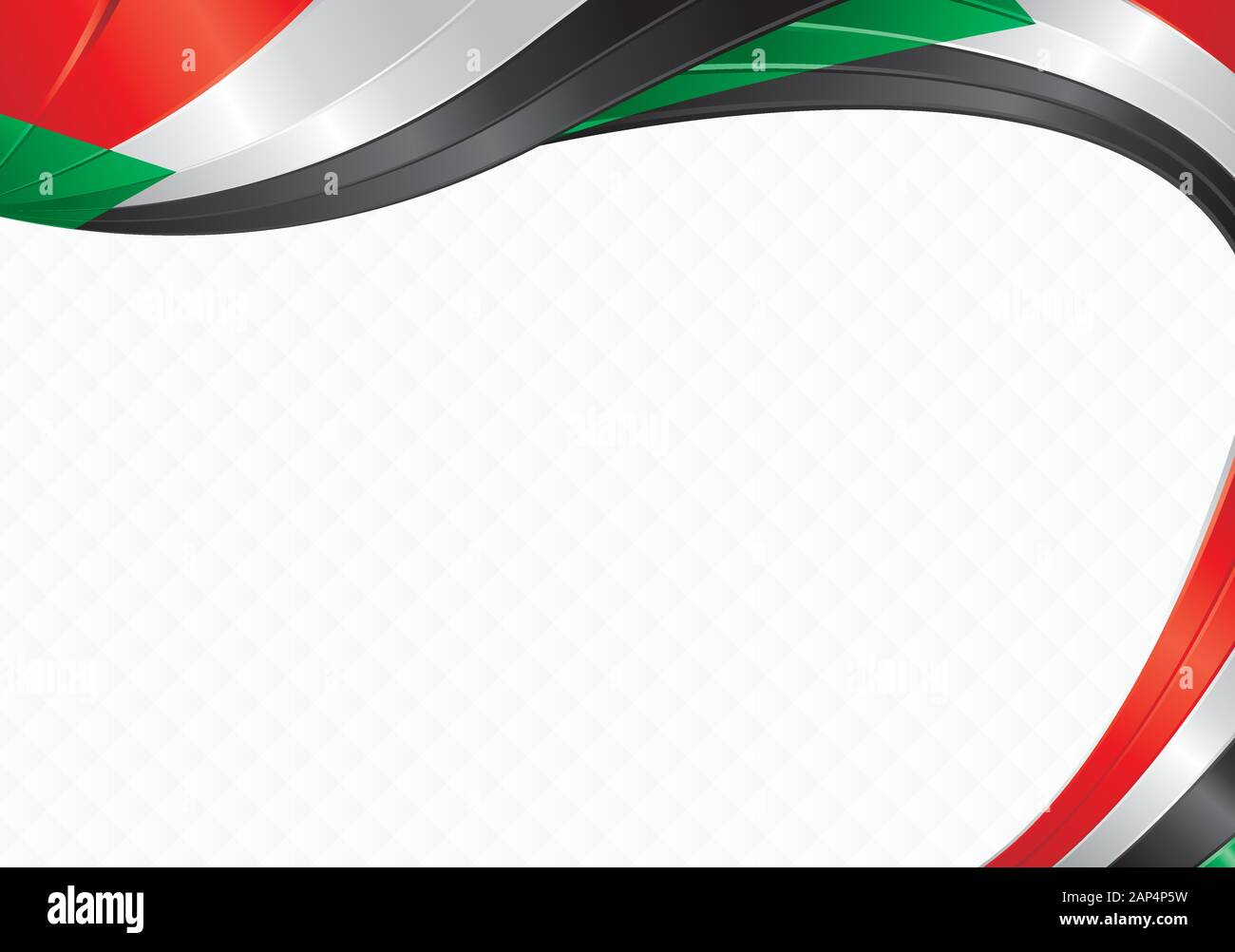 Abstract Background With Wave Shapes With The Black Green White Red Colors Of The Flag Of Sudan To Use As Diploma Or Certificate Stock Vector Image Art Alamy