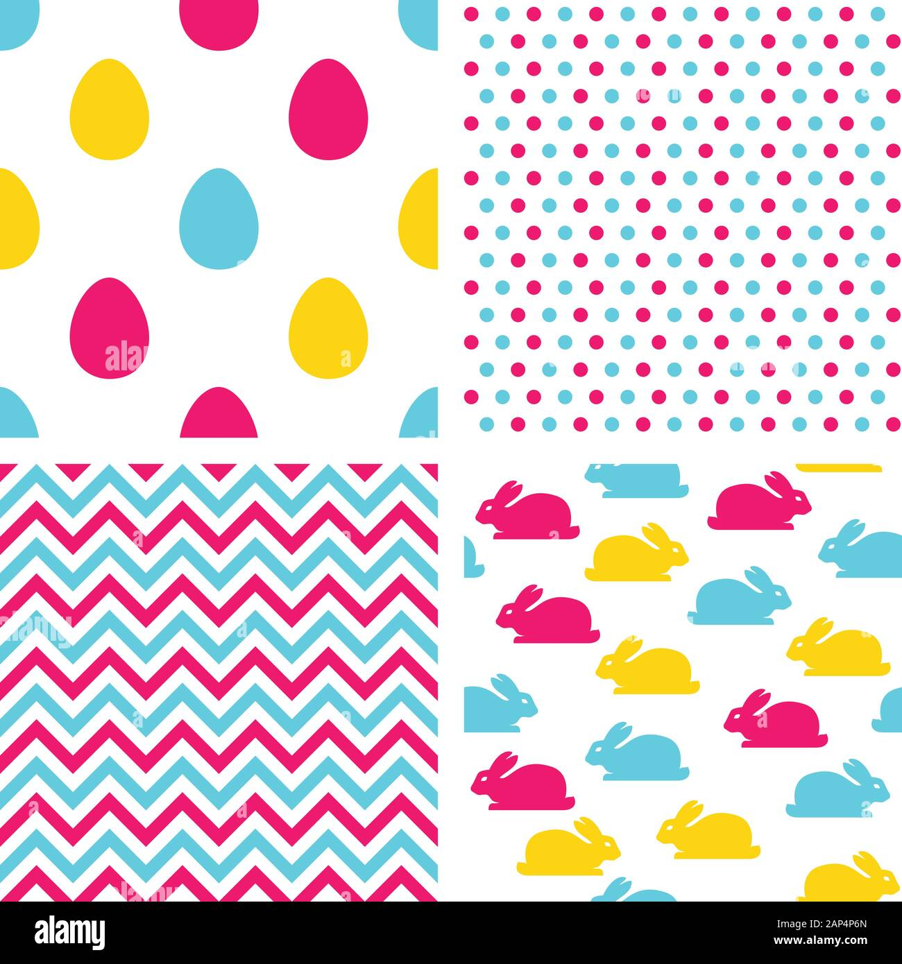 Easter seamless patterns. Backgrounds for easter Stock Vector