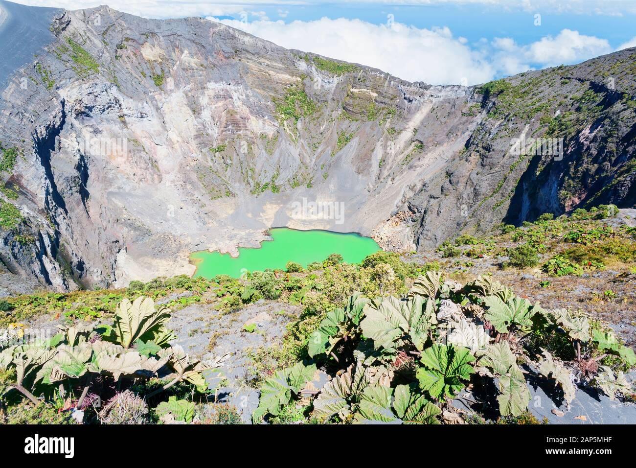 Irazu volcano, Irazu Volcano National Park, Cartago Province, Costa Rica Stock Photo