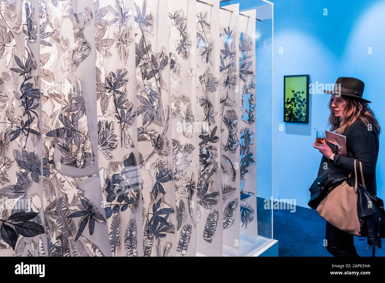 Islington, London, UK. 21st Jan, 2020. Traces of Passion by Jack Milroy, in Art First - The London Art Fair, at the Business Design Centre in Islington. Includes international galleries selling modern and contemporary artworks. Credit: Guy Bell/Alamy Live News Stock Photo