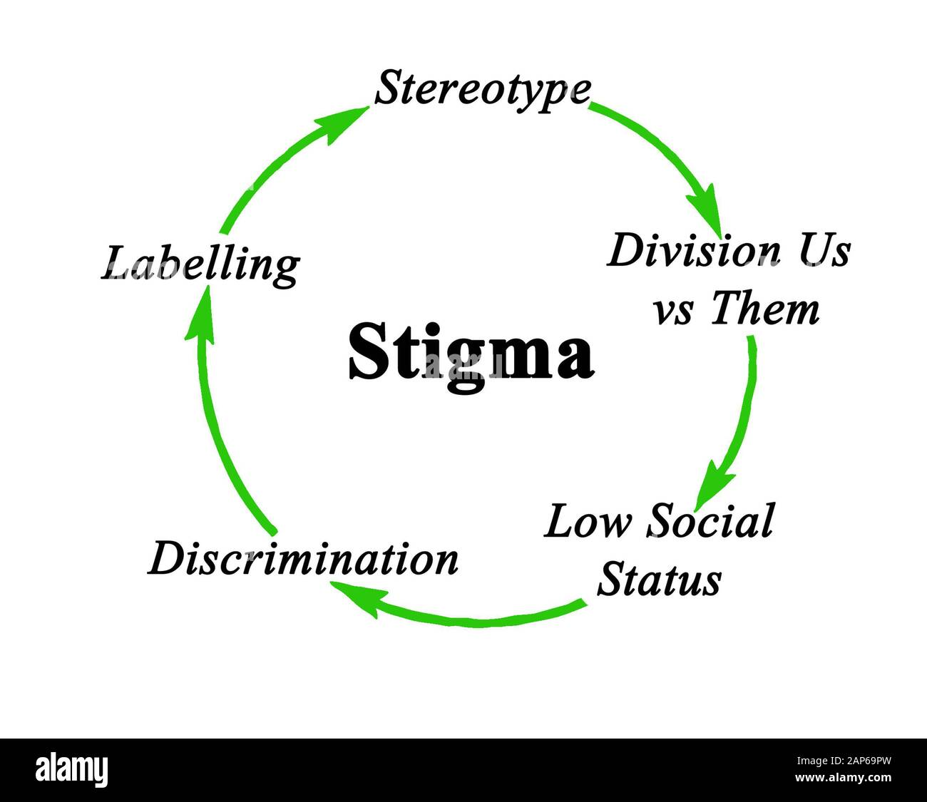 Components Of Cycle Of Stigma Stock Photo Alamy