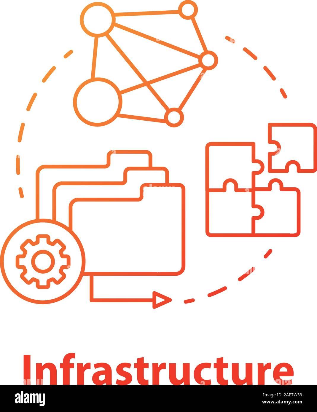 software development infrastructure diagram infrastructure concept icon software development tools idea thin  software development tools idea thin