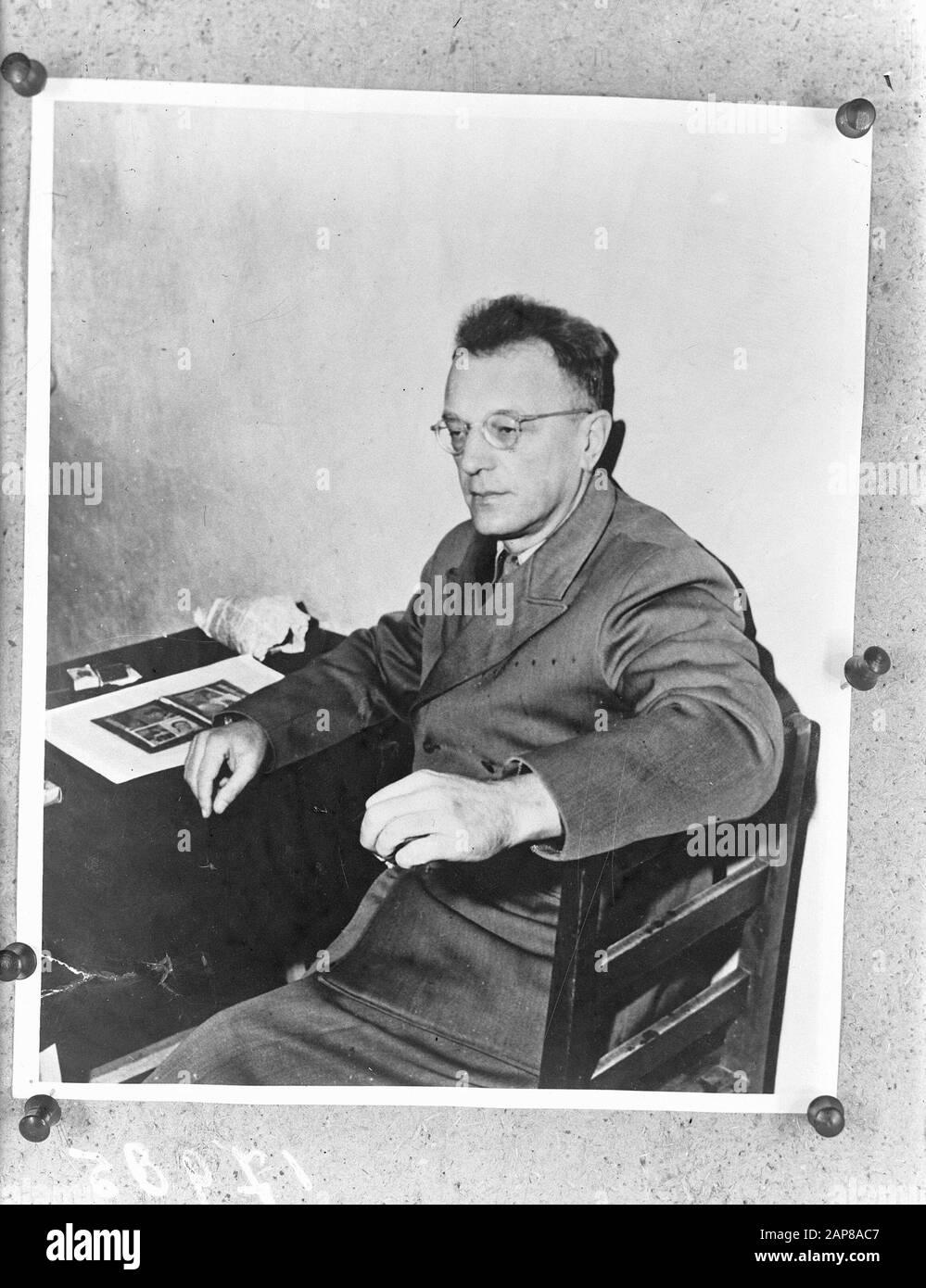 Arthur Seyss-Inquart Annotation: Photo presumably taken in prison cell in Nuremberg. Original registration title: Seys 1/4 (Inquert) Date: June 6, 1946 Personal name: Seyss-Inquart, Arthur Stock Photo