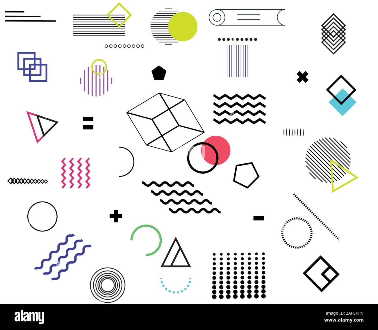 Geometric Design Elements Set Memphis Design Vector Abstract Geometric Line Graphic Shapes Modern Hipster Circle Triangle Template Colorful Illustrat Stock Vector Image Art Alamy,Day Of The Dead Tattoo Designs For Men