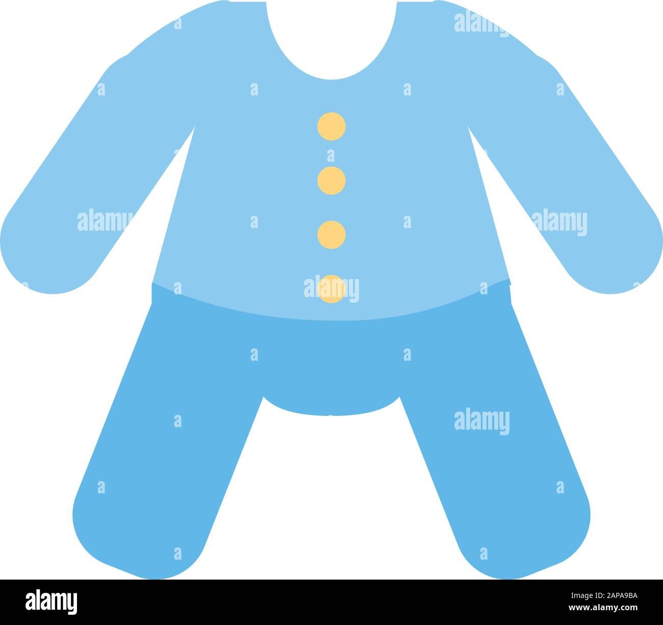 baby cloth design, Child newborn childhood object innocence and little theme Vector illustration Stock Vector