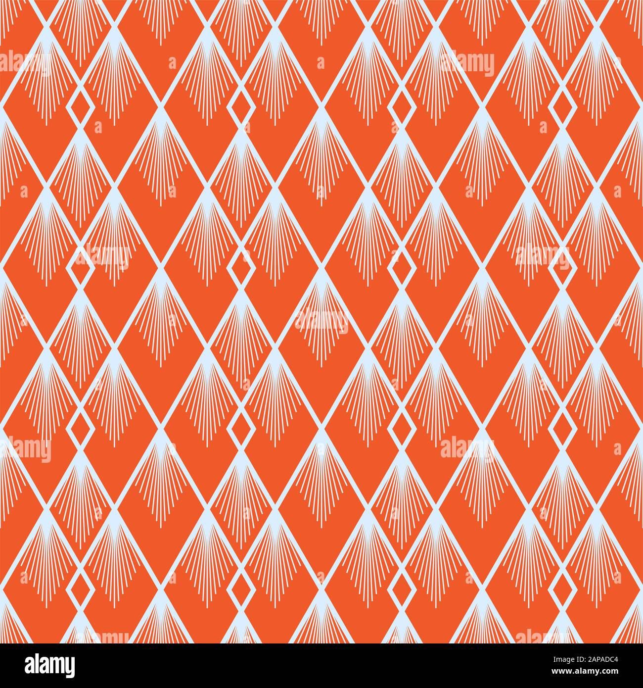 art deco vector semless pattern vintage decorative summer orange geometric background texture for wallpaper print poster card and etc simple 1920 2APADC4