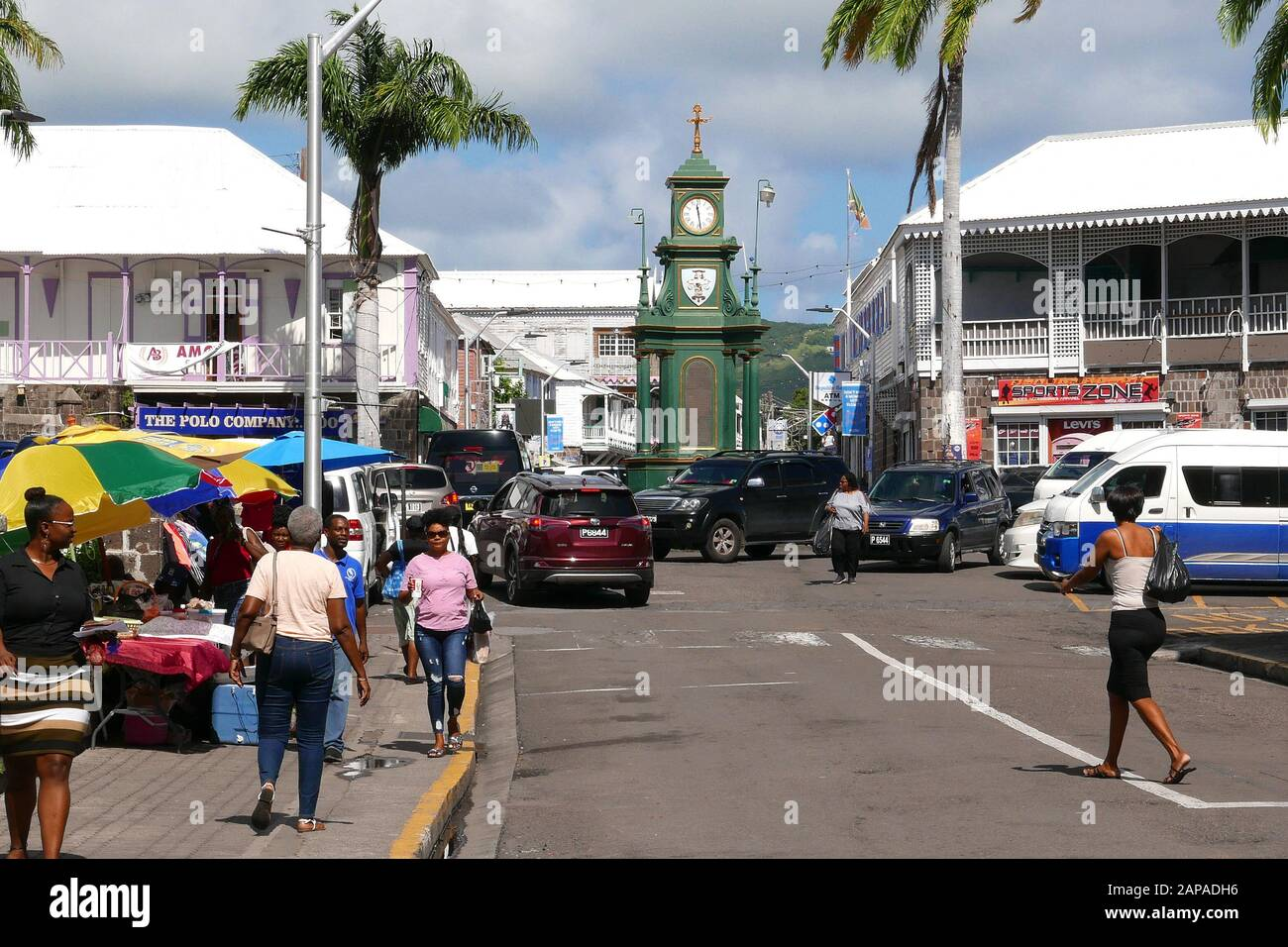 Basseterre in St.Kitts in the Caribbean Stock Photo