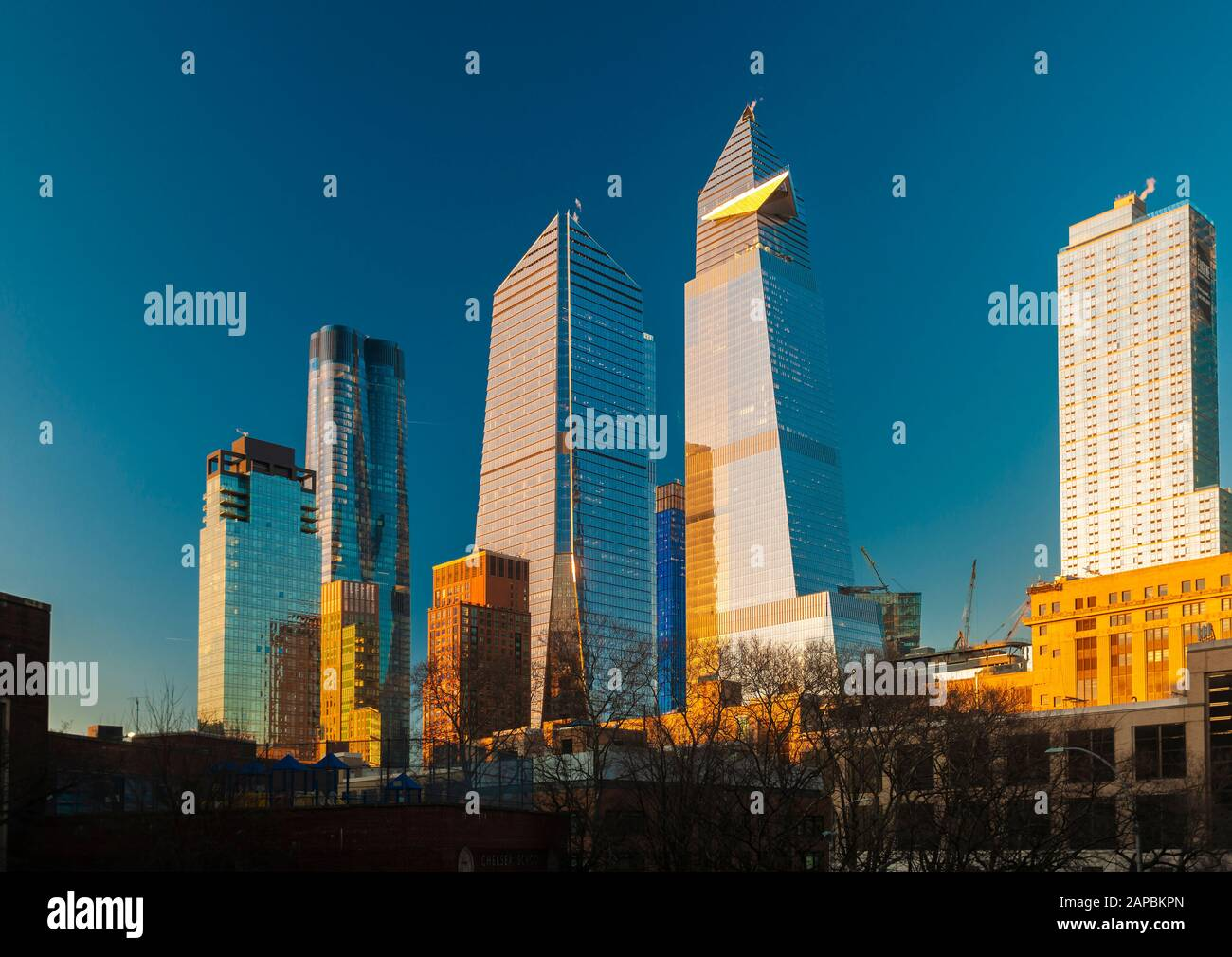 The Hudson Yards complex in New York on Monday, January 20, 2020 (© Richard B. Levine) Stock Photo