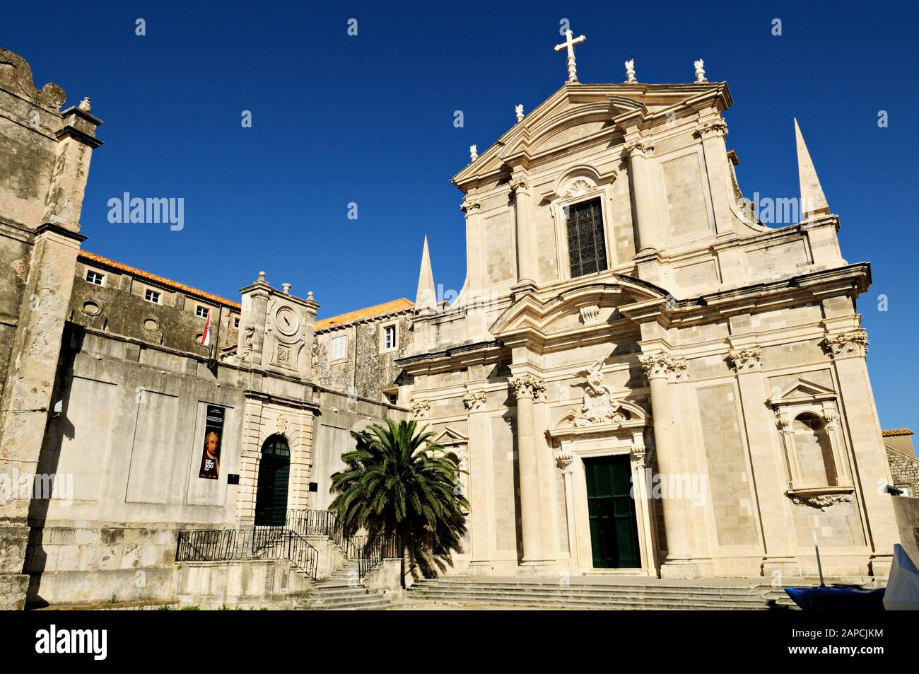 Saint Ignatius Church in Dubrovnik, Croatia Stock Photo