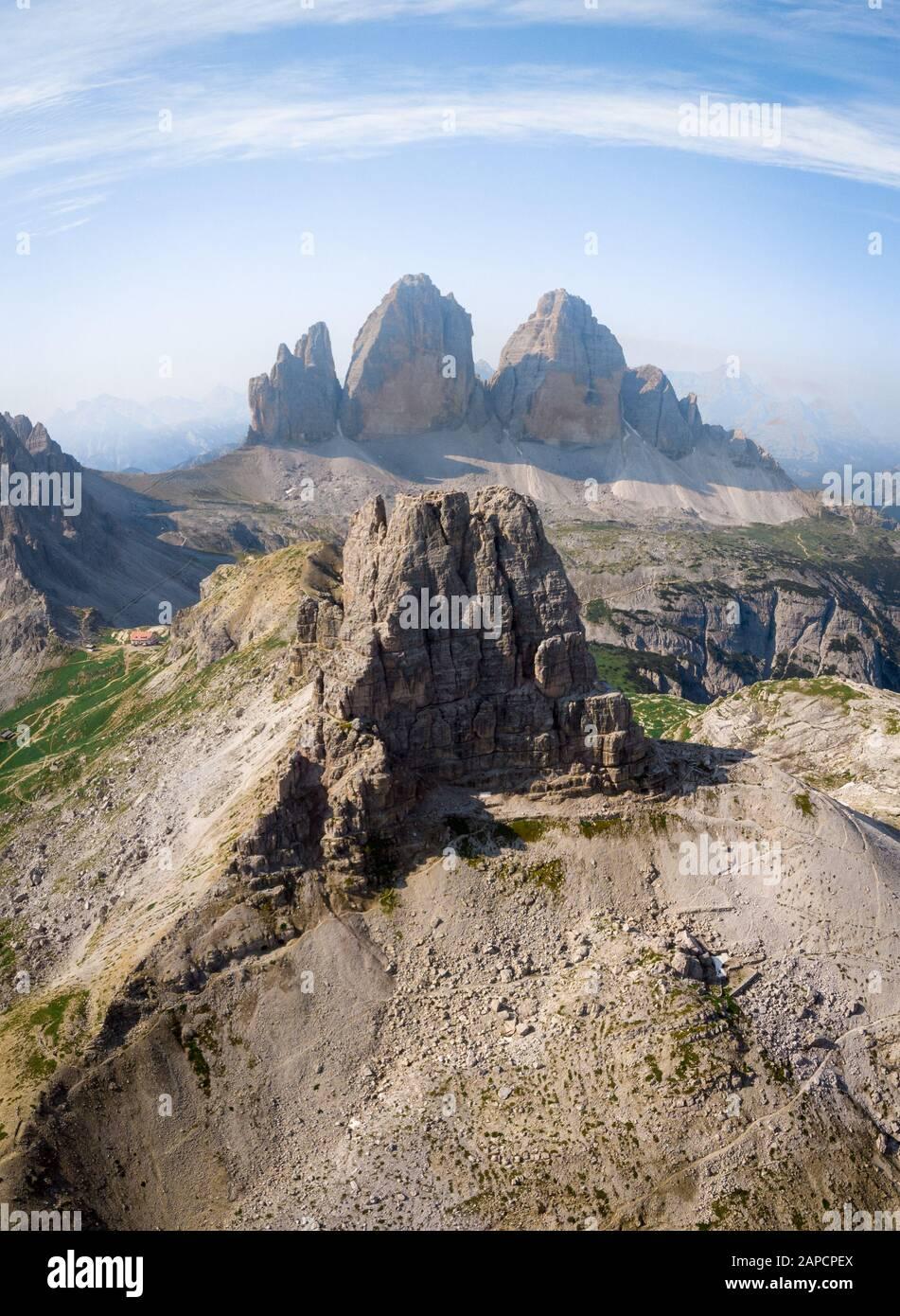 Torre di Toblin/ Cime di Lavaredo, South Tyrol, Italy Stock Photo