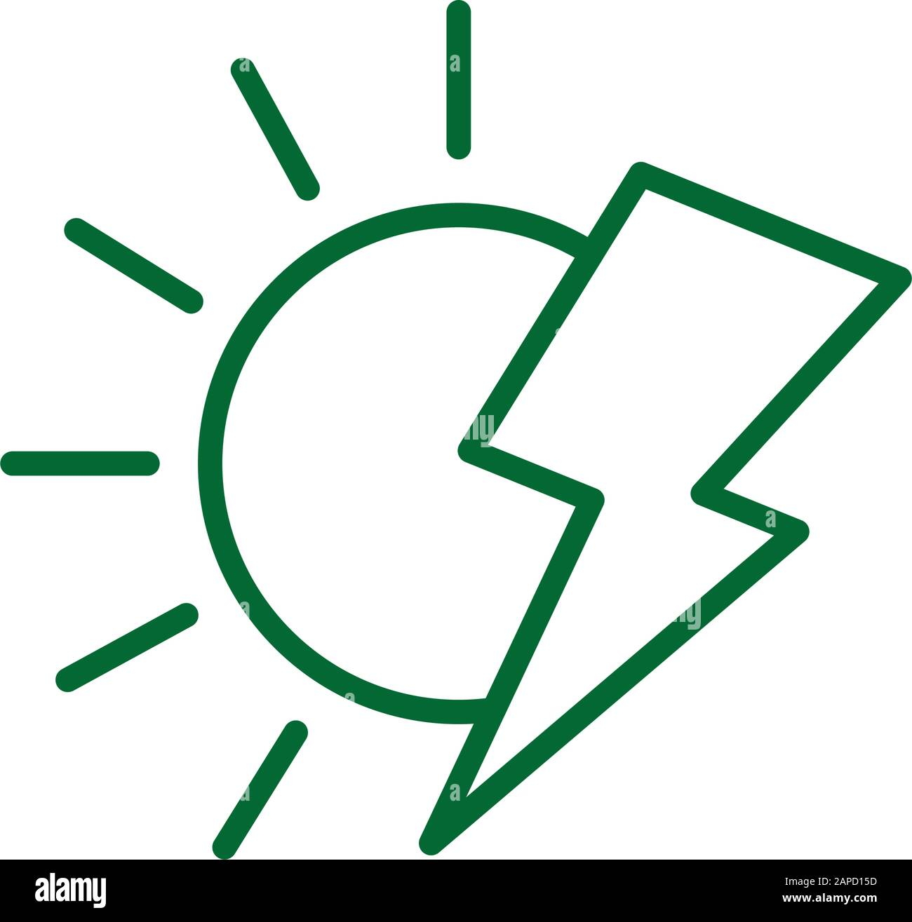 thunder vector high resolution stock photography and images alamy https www alamy com isolated eco sun and thunder vector design image340805737 html