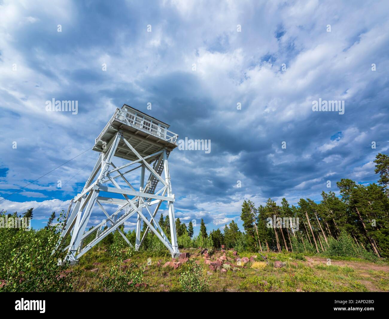 Ute Mountain Fire Tower National Historic Site, Ashley National Forest, Utah. Stock Photo