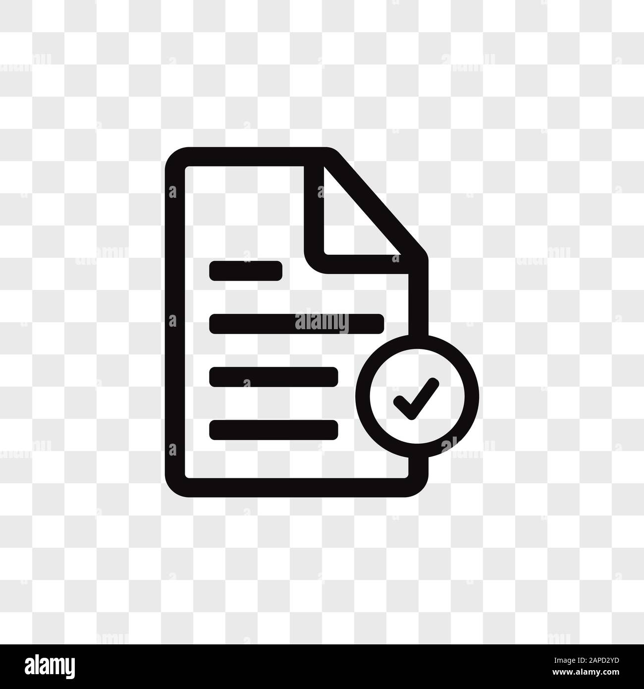 Check List Vector Icon Checked Symbol Approve Pictogram In