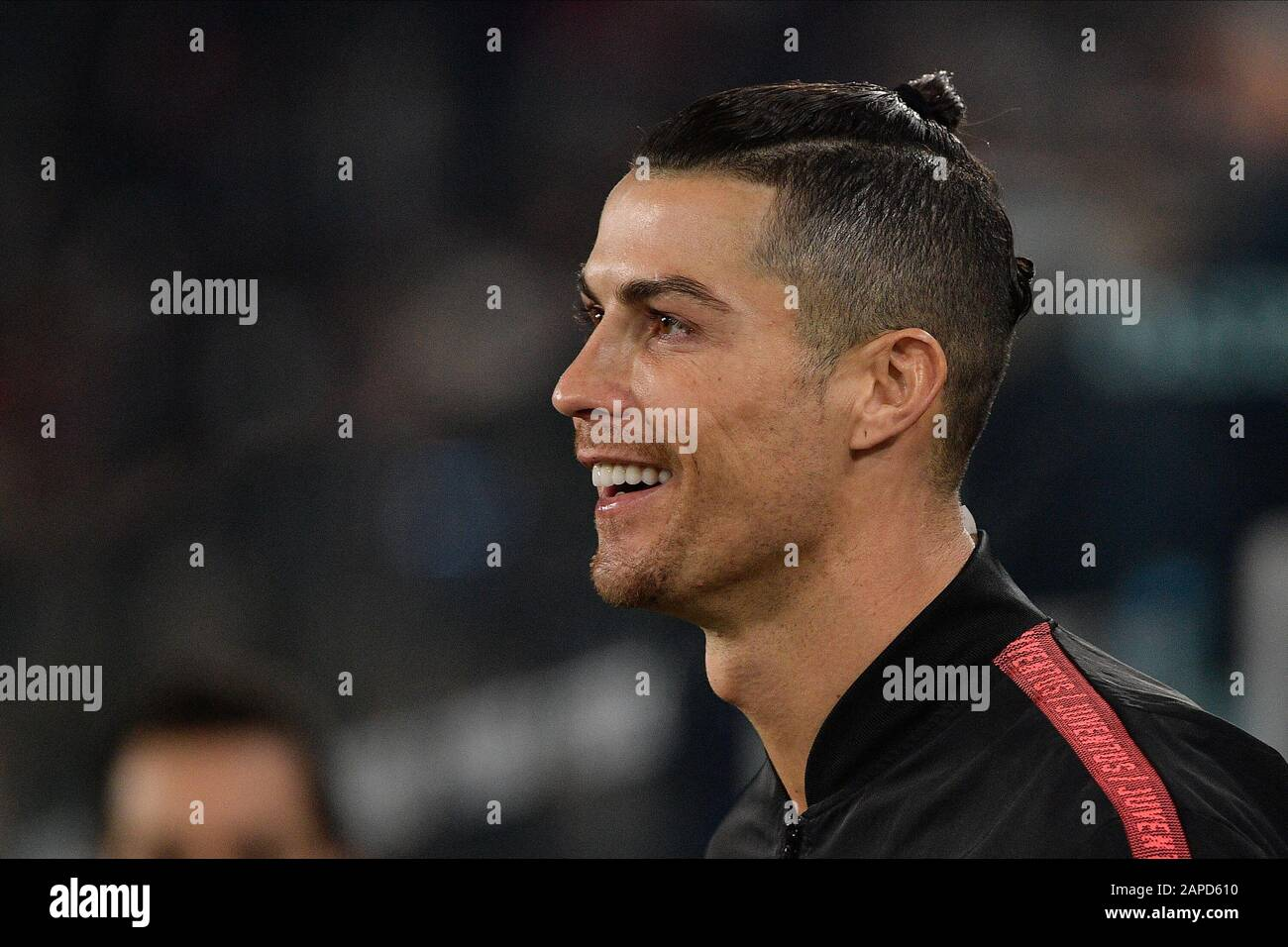 Turin Italy 22nd Jan 2020 Cristiano Ronaldo Of Juventus Fc
