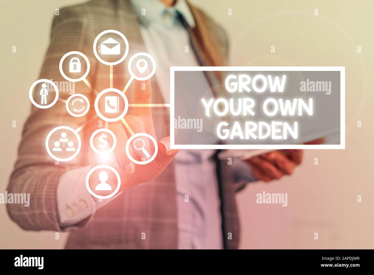 Conceptual Hand Writing Showing Grow Your Own Garden Concept