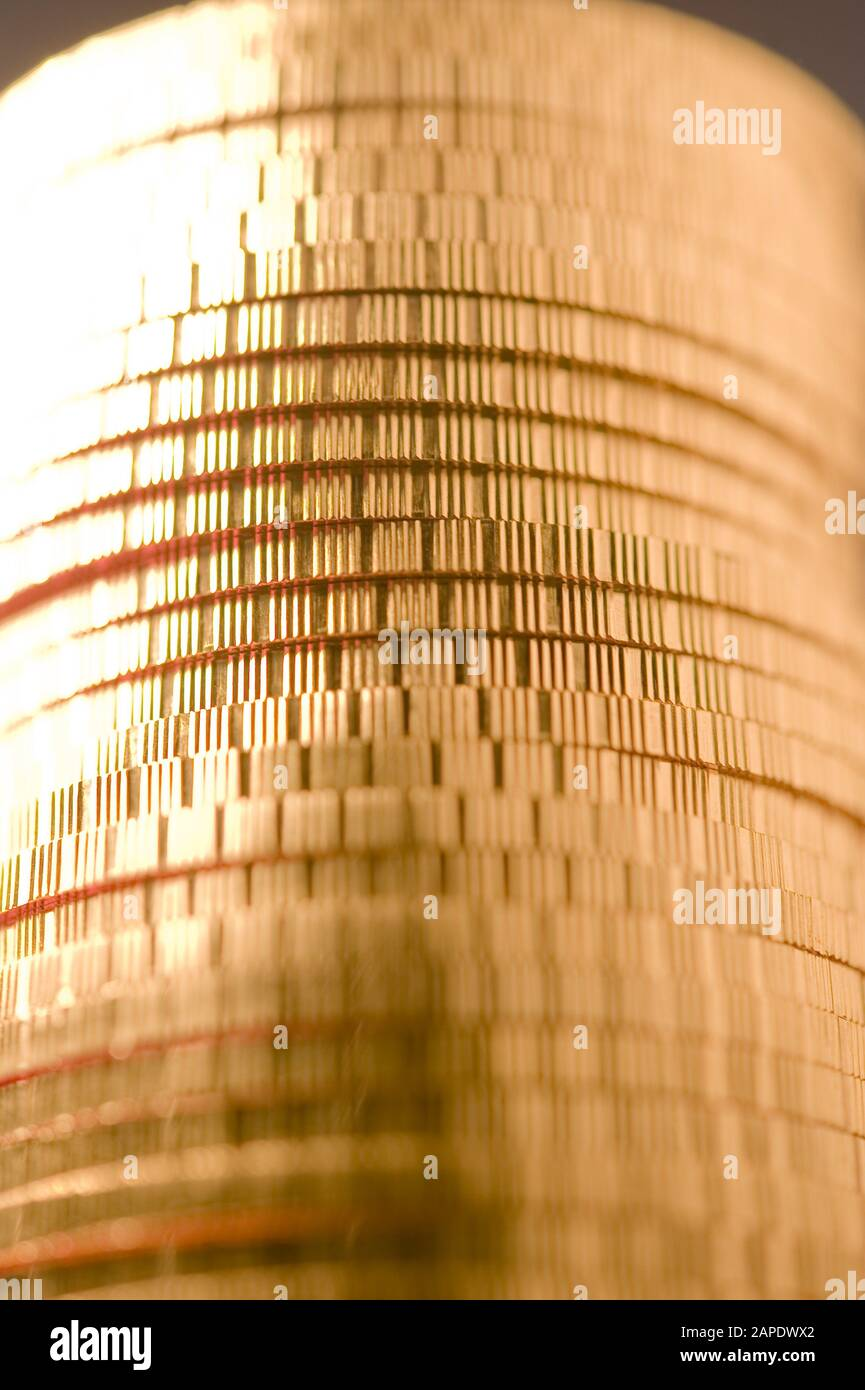 Ein Stapel Goldmünzen (Wiener Philharmoniker) - A Pile of Gold Coins (Wiener Philharmoniker) Stock Photo