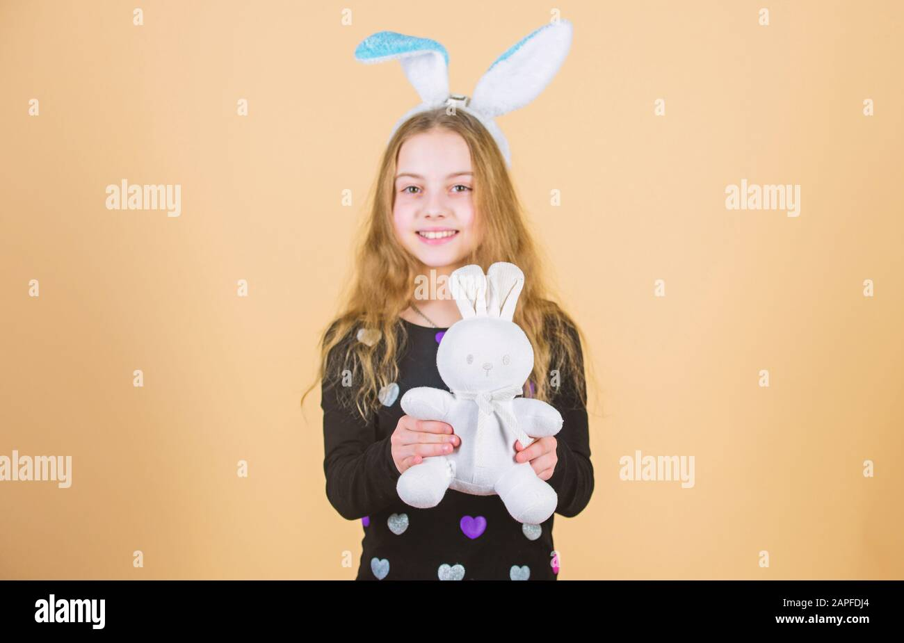 Hare Is A Symbol Of Fertility And Spring Small Kid Getting White