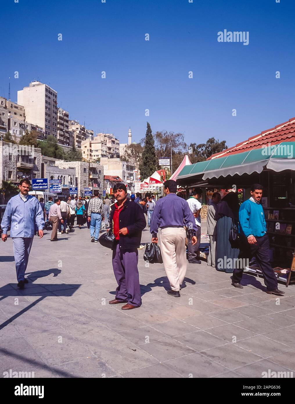 Jordan. Street scene in the market place in the Jordan capital city of Amman Stock Photo